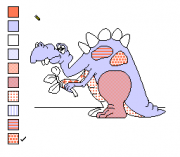 Play Color a Dinosaur Online